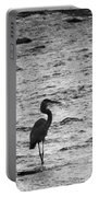 Great Grey Heron Silhouette Portable Battery Charger