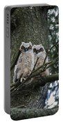 Great Horned Owls Young Portable Battery Charger