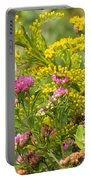 Great Southern White Butterfly Likes The Pink Flowers Portable Battery Charger