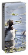 Grebe With Babies Portable Battery Charger