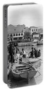 Greek Immigrants Fleeing Patras Greece - America Bound - C 1910 Portable Battery Charger