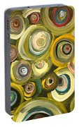 Green Abstract Feeling Portable Battery Charger