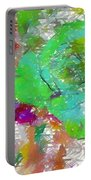 Green Abstract Rose Portable Battery Charger