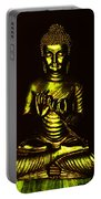 Green And Gold Buddha Portable Battery Charger