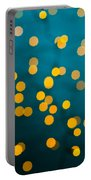 Green Background With Gold Dots  Portable Battery Charger