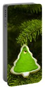 Green Branches Of A Christmas Tree Portable Battery Charger