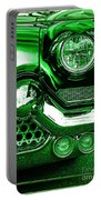 Green Chrome Portable Battery Charger