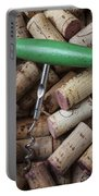 Green Corkscrew Portable Battery Charger by Garry Gay