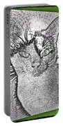 Green Eyed Monster Portable Battery Charger