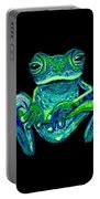 Green Ghost Frog Portable Battery Charger