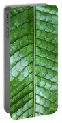 Green Scaly Leaf Pattern Portable Battery Charger