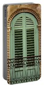 Green Shutters And Balcony In Verona Portable Battery Charger