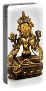 Green Tara Portable Battery Charger by Fabrizio Troiani