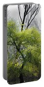 Green Tree And Pampas Grass Portable Battery Charger