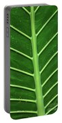 Green Veiny Leaf 1 Portable Battery Charger
