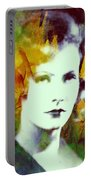 Greta Garbo Abstract Pop Art Portable Battery Charger