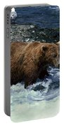 Grizzly Bear Fishing Portable Battery Charger