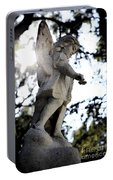 Guardian Angel With Light From Above Portable Battery Charger