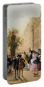 Guerard: Cafe Tortoni, 1856 Portable Battery Charger