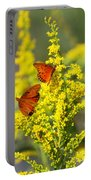 Gulf Fritilaries On Golden Rod Portable Battery Charger