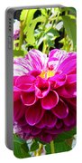 Half And Half Flower Portable Battery Charger