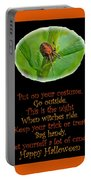 Halloween Card - Spider And Poem Portable Battery Charger
