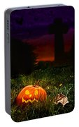 Halloween Cemetery Portable Battery Charger