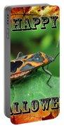 Halloween Greeting Card - Box Elder Bug Portable Battery Charger