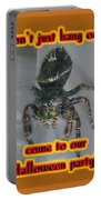 Halloween Party Invitation - Salticid Jumping Spider Portable Battery Charger