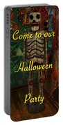 Halloween Party Invitation - Skeleton Portable Battery Charger