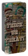 Halloween Trick Or Treat Skeleton Greeting Card Portable Battery Charger