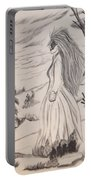 Halloween Witch Walk Portable Battery Charger