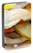 Hamburger With Pickle And Tomato Portable Battery Charger