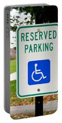 Handicapped Parking Sign Portable Battery Charger by Photo Researchers