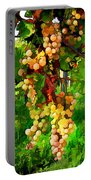 Hanging Grapes On The Vine Portable Battery Charger by Elaine Plesser