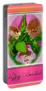 Happy Birthday Card - Foxgloves Portable Battery Charger