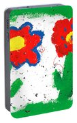 Happy Colorful Flowers Portable Battery Charger