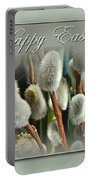 Happy Easter Greeting Card - Pussywillows Portable Battery Charger
