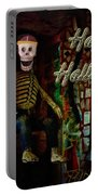 Happy Halloween Skeleton Greeting Card Portable Battery Charger