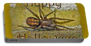 Happy Halloween Spider Greeting Card Portable Battery Charger