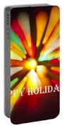 Happy Holidays Card Portable Battery Charger