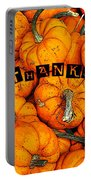 Happy Thanksgiving Art Portable Battery Charger