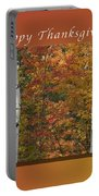 Happy Thanksgiving Birch And Maple Trees Portable Battery Charger