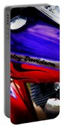 Harley Addiction Portable Battery Charger by Susanne Van Hulst