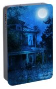 Haunted House Full Moon Portable Battery Charger