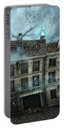 Haunted House Portable Battery Charger by Jutta Maria Pusl