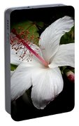 Hawaiian White Hibiscus Portable Battery Charger