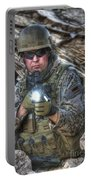 Hdr Image Of A German Army Soldier Portable Battery Charger