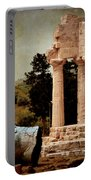Head At Temple Of Castor And Pollux Portable Battery Charger