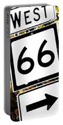 Heading West On Route 66 Portable Battery Charger